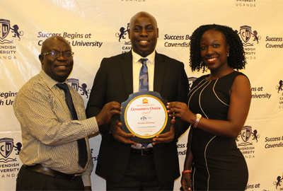 Cavendish University Uganda scoops 'Best Private University Gold Award' at the 2019 Consumers' Choice Awards Ceremony