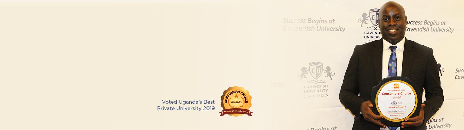 Cavendish University Uganda scoops 'Best Private University Gold Award' at the 2019 Consumers' Choice Awards Ceremony