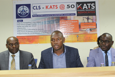 Katende, Ssempebwa & Co. Advocates @50 offers Career Guidance to Cavendish University Uganda Law students